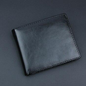 Men Bifold Business Wallet Fashion Black PU Leather Passport Holder Protector Wallet Business Card Soft Passport Cover Black кошелек obey drexel bifold wallet black