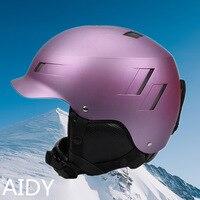 Aidy أعلى درجة خوذة تزلج الأطفال الكبار الفقرة ABS على الجليد في الإرادة تخصيص نمط اللون-في واقي الأذن من الأمن والحماية على