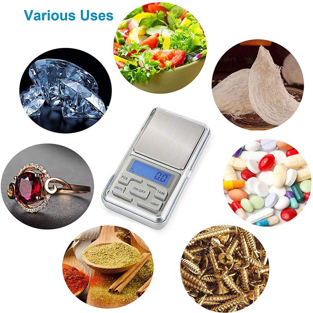 Oauee 200g/300g/500g x 0,01g/0,1g/мини электронные весы Карманные электронные весы для Ювелирные изделия из золота, стерлингового серебра баланс грамм-4