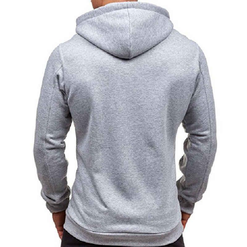 2020 Nieuwste Hot Herfst Winter Mode Fleece Hoodie Mens Casual Slim Thermische Gevoerde Capuchon Jas Sweater Zip Bovenkleding Warm