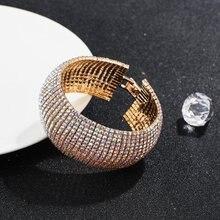 Bracelet en zircon de qualité 3A pour femmes, personnalité exagérée, luxe de haute qualité, en métal incrusté, offre spéciale américaine