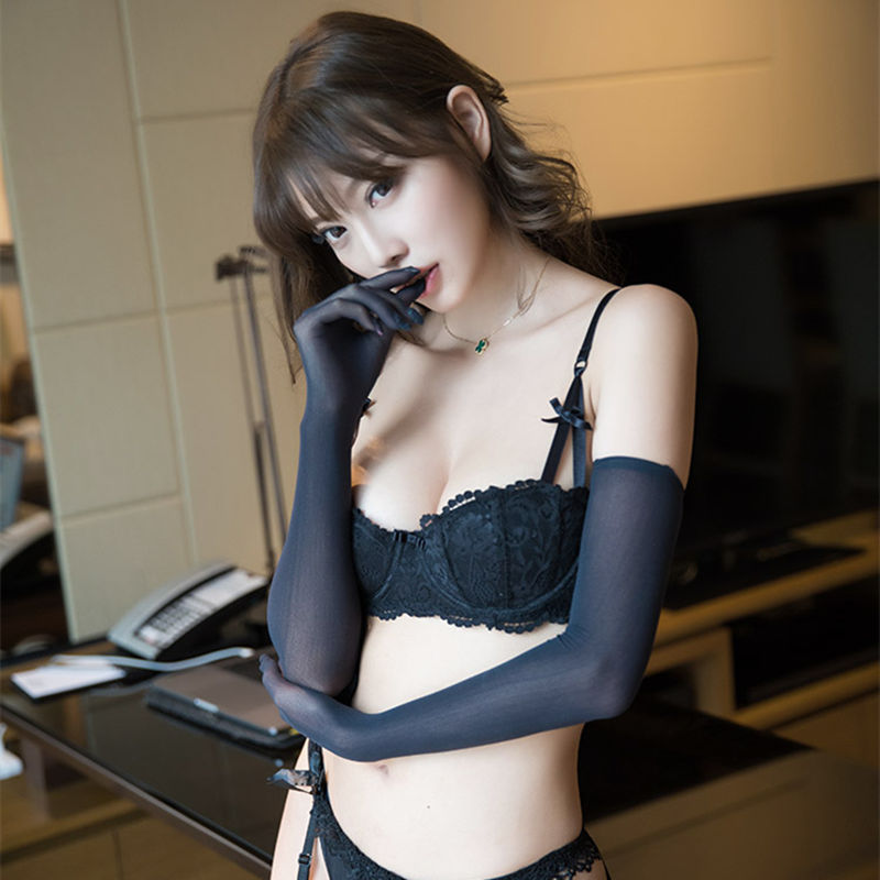 Cosplay Bride Erotic Costumes See Through Long Sex Gloves Sexy Lingerie For Adult Role-play Games Sex Toys Products For Women