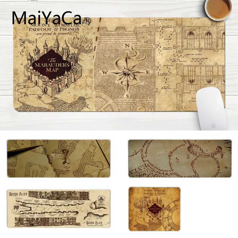 MaiYaCa Top Quality Potter Map Gamer Play Mats Mousepad Laptop Gaming Lockedge Mice Mousepad Gaming Mouse Pad