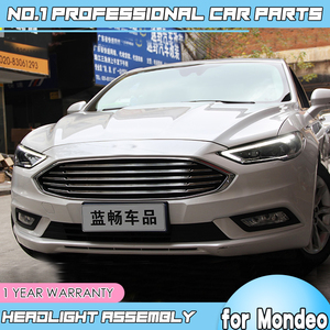 Image 3 - car accessories for Ford Mondeo LED 2016 2018 Headlight for New Fusion Head Lamp Dynamic turn signal LED DRL Bi Xenon HID