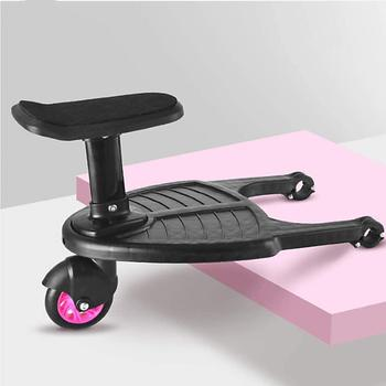 Baby Stroller Auxiliary Pedal Second Child Artifact Trailer Twins Baby Cart Two Children Standing Plate Sitting Seat twins baby stroller sitting and lying portable baby carriage folding second child artifact double seat twin stroller for newborn