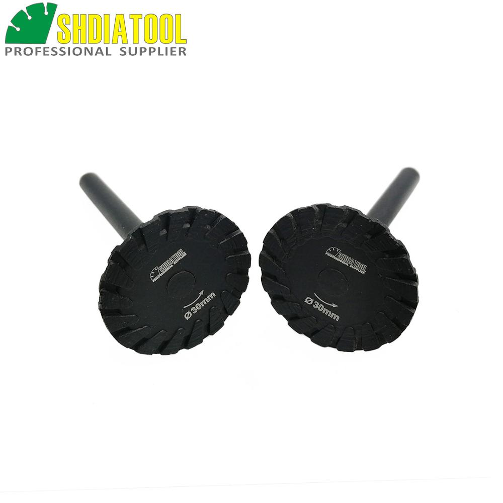 SHDIATOOL 2 Pcs Hot Pressed Diamond Turbo Mini Engraving Saw Blades With 6mm Shank Diameter 30mm Diameter 40mm Available