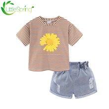 Littlespring/комплекты одежды для маленьких девочек; Повседневные