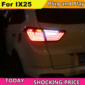 doxa Car Styling for Hyundai ix25 2014-2017 taillights Creta Tail Lights LED Rear Lamp LED DRL+Brake+Park+Signal Stop Lamp