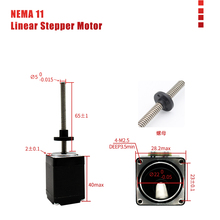 Nema11 Linear Stepper Motor 0.7A 4.9V φ5 φ8 Lead Screw Motor Stepper for Mini Linear Module CNC Parts openbuilds nema23 acme lead screw linear actuator with nema23 stepper motor diy cnc sliding table lead screw travel 250mm