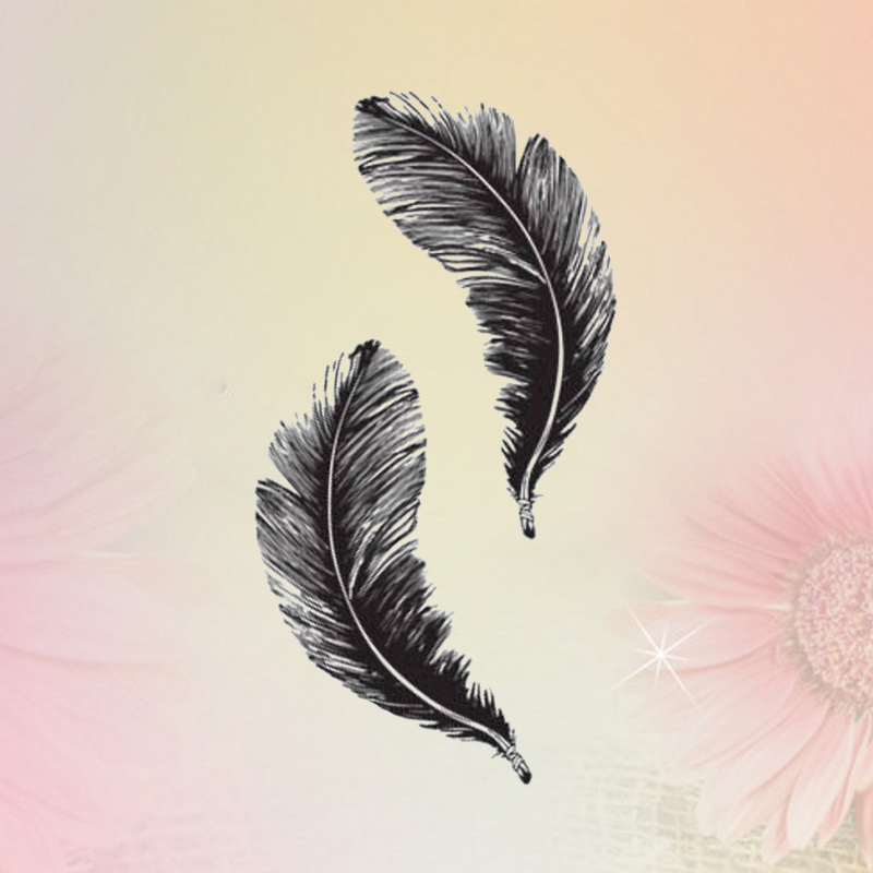 NEW 1PC Feather Image Temporary Tattoos Stickers Sexy Harajuku Waterproof Temporary Tattoo For Man Woman Fake Tattoo Stickers