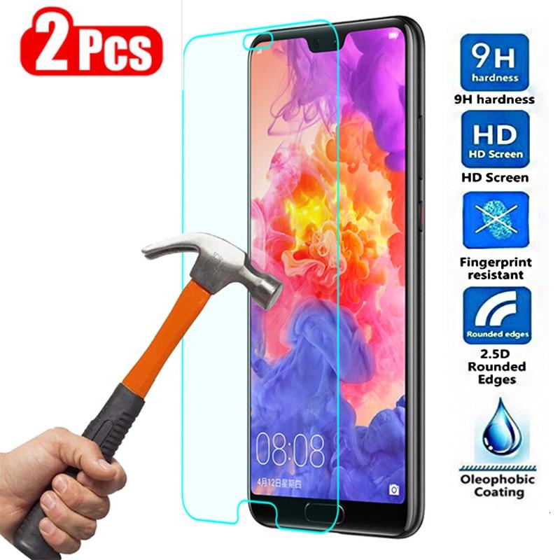 2 adet temperli cam için Huawei Mate 20 Lite P20 Pro koruyucu cam ekran koruyucu Mate20 20lite P 20 P20lite P20pro 20pro