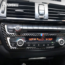 Car Air Conditioning CD Panel Carbon Fiber Decorative Cover Trim For BMW F30 F34 2013-2016 Auto Accessories Car Styling Sticker auto body outlet air conditioner automobile decorative chromium car styling sticker strip 11 12 13 14 15 16 17 for bmw 5 series