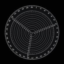 Высокая точность Центр искатель инструмент деревообрабатывающий Компас для деревообрабатывающих чаш токарный станок работа прозрачный акриловый рисунок круги диаметр