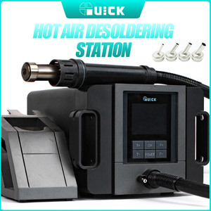 QUICK TR1300A 1300W Heat Gun Nozzle 110V 220V Hot Air Blower Welding Solder Station 100 To 500 Temperature Adjustable Home