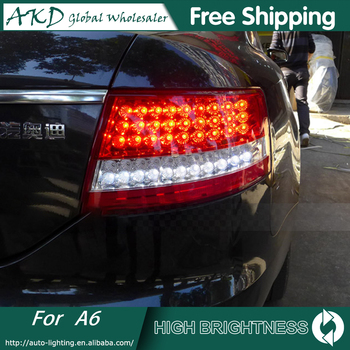 AKD Car Styling for AUDI A6 2005-2008 TAIL Lights LED Tail Light LED Rear Lamp DRL+Brake Trunk LIGHT Automobile Accessories