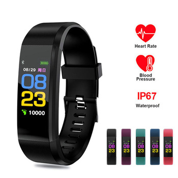 Smart Bracelet 115 Plus Blood Pressure Fitness Tracker Smart Watches Men Heart Rate Monitor Waterproof Smart Wristband Tracker k6 color screen smart wristband sports bracelet heart rate blood pressure monitor fitness tracker for samsung galaxy s6 s5 s4 s3