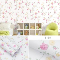 3D wallpaper Flower pattern Natural field PVC waterproof self adhesive wall paper for bedroom decoration