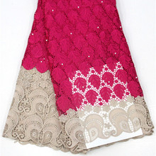 Lace-Fabric Tissue Cord Guipure Wedding-Party Nigerian for Royal-Blue New-Arrive