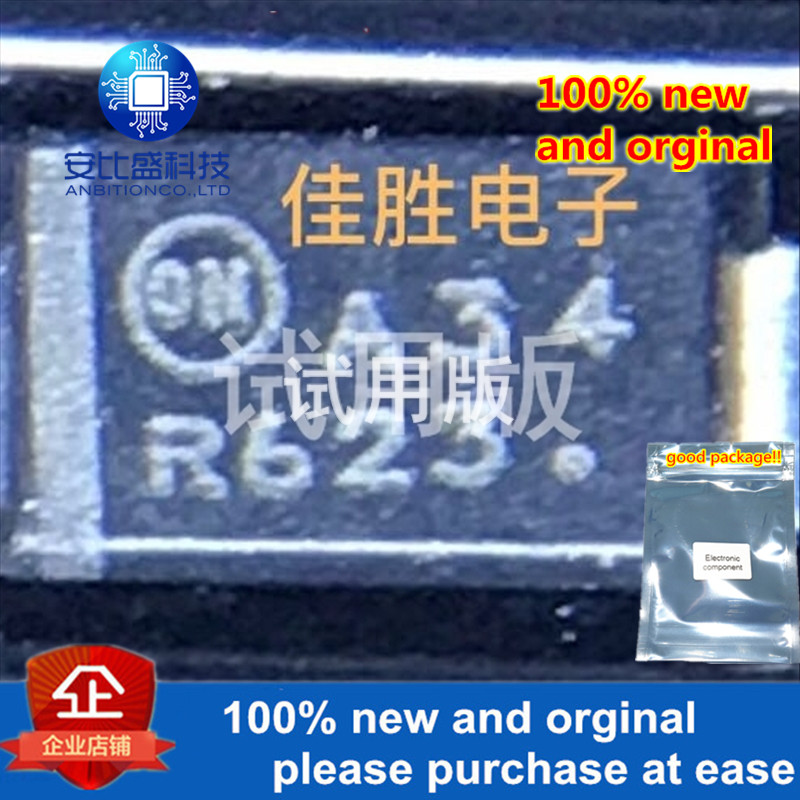 25-50pcs 100% New And Orginal MBRA340T3G 3A40V DO214AC Silk-screen A34  In Stock