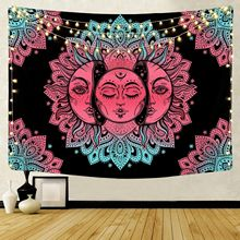 Mandala Print Tapestry Wall Hanging Psychedelic Indian Sun Hippie Wall Tapestry Throw Rug Blanket Wall Cloth Carpet Home Decor butterfly print home decor wall hanging tapestry