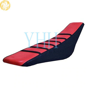 New Red Gripper Rubber Soft Motorcycle Seat Cover Skin For Honda CR125 CR250 1994-1996 Seat Cushions CR 125 250 1995 image