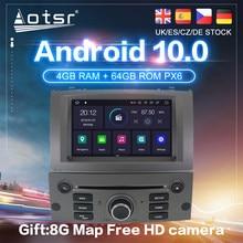 Android 10 PX6 Carplay Voor Peugeot 407 2004- 2012 Auto Gps Navigatie Auto Radio Stereo Dvd Multimedia Video Player autoradio 2Din