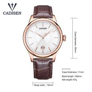 Image 2 - CADISEN 2019 יוקרה גברים של אוטומטי שעון עור מכאני שעון צבאי עסקי פנאי עסקים עמיד למים לוח שנה גברי