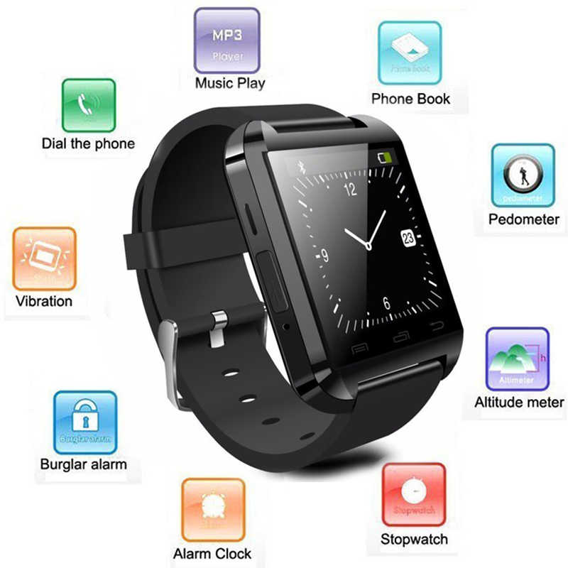U8 montre intelligente sans fil Bluetooth pour iPhone/HTC/LG/Samsung/Sony/Lenovo/Huawei/Xiaomi