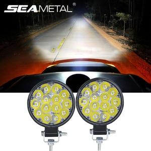 12V 24V 48W 6500K Work Light Bar Car LED Combo Spot Flood Driving Lamp Auto Work Light HeadLight for 4x4 Off Road Trucks Tractor