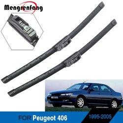 Dla Peugeot 406 akcesoria samochodowe przednie pióra wycieraczek do przedniej szyby miękka gumowa wycieraczka Blade J Hook Arms 1995-2005