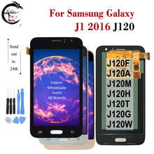 ЖК дисплей AMOLED 4,5 дюйма для SAMSUNG Galaxy J1 2016, дисплей J120 SM J120F/DS J120M J120G J120A J120H, ЖК экран с сенсорным дигитайзером в сборе