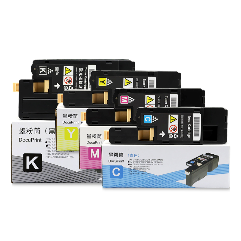 4pcs Toner Cartridge Compatible For FUJI Xerox DocuPrinter CP115w CM115w CP115 CP116w CP225w CP118W CM118W CP225W With Chip