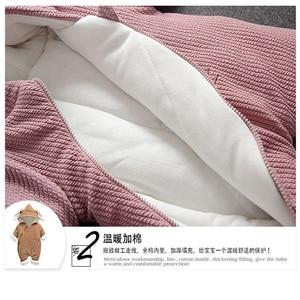 Image 5 - Soğuk kış Bebek Erkek kız rahat kapşonlu giyim seti tulum yenidoğan bebek erkek kız elbise kıyafetler kalın setleri tulum