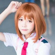Anime My Boku no Hero Academia OCHACO URARAKA Wig Cosplay Costume