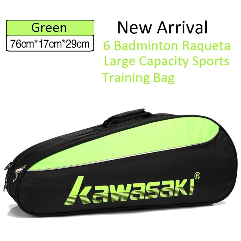 Kawasaki Tennis Badminton Racket Backpack 6 Badminton Raqueta Large Capacity One Shouders Diagonal Cross Portable Training Bag
