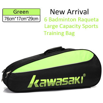Kawasaki Tennis Badminton Racket Backpack 6 Raqueta Large Capacity One Shouders Diagonal Cross Portable Training Bag