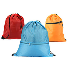 Outdoor Fitness Backpack Drawstring Bag Waterproof Nylon Basketball Storage Drawstring Pocket Sport Travel Large Capacity  Bags forudesigns denim pocket cat cute women travel backpack small sport beach drawstring bag for men beach storage bags kids bookbag