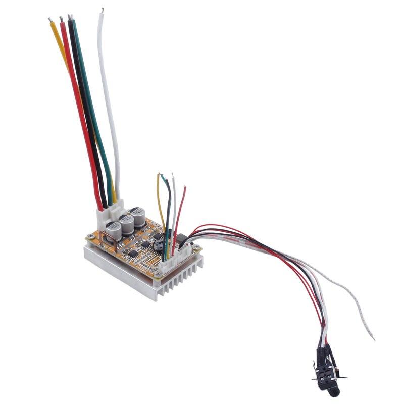 Image 4 - BLDC DC 5 36V Brushless Sensorless Motor Control Board Motor Driver Regulator Monitor 350W High Power DC Motor Speed Controller-in Motor Driver from Home Improvement