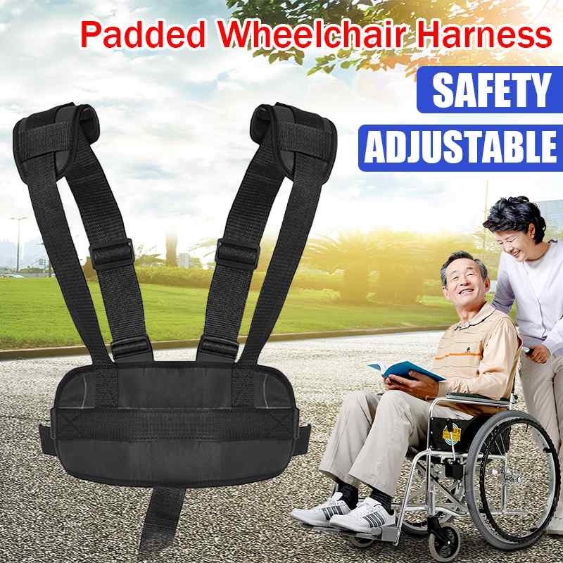 45x15x10cm Back Support Adjustable Wheelchair Seat Harness for Elderly Patients Wheelchairs Seat Belt Leg Fixing Belt Therapy