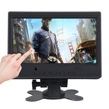 """라스베리 파이 HDMI + VGA + AV 인터페이스 디스플레이 용 7 """"LCD 터치 모니터 용량 성 터치 스크린 모듈 자동차 백업 역방향"""