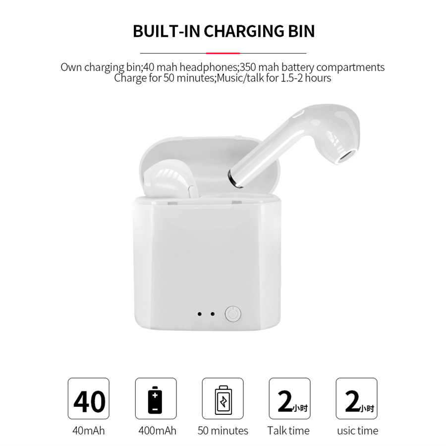 Upgraded i7s Tws i7 Mini Headphone Wireless Bluetooth 5.0 Earphone Earbuds With Mic Charging Box Sport Headset For Smart Phone