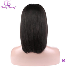 Trendy Beauty Short Lace Front Human Hair Bob Wigs13x4 Pre Plucked Brazilian Straight Hair Bob Wigs For Black Women Remy Hair