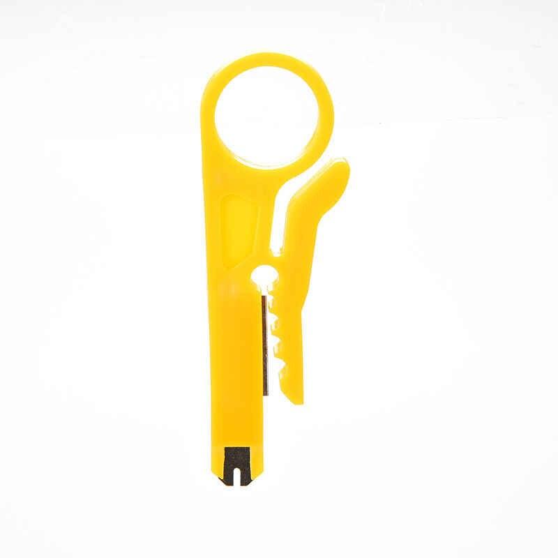 Przenośne narzędzie do zaciskania Mini szczypce do zdejmowania izolacji nóż szczypce do zaciskania ściąganie izolacji z kabla przecinak do drutu narzędzia wielofunkcyjne linia cięcia kieszeni multitool