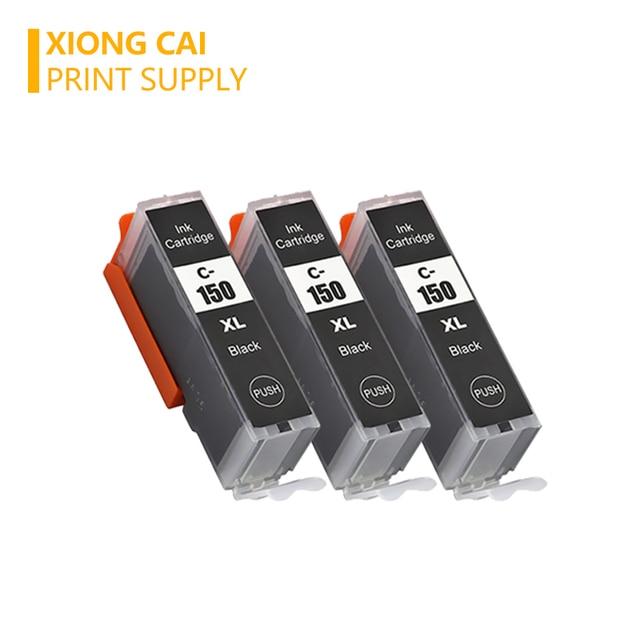 3 pièces IGP 150 CLI 151 Cartouche dencre Pour canon PIXMA IP7210 MG5410 MG5510 MG6410 MG6610 MG5610 MX921 MX721 IX6810 PGI150 CLI151