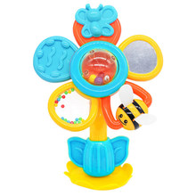 Random Color Baby Flower Rotating Clappers Ferris Wheel Suction Cup With Colorful Beads Intelligent Toy Educational Toys #20(China)