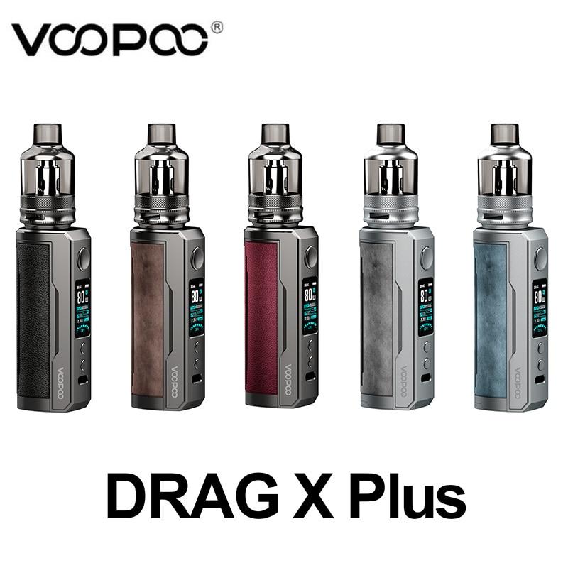 Original  VOOPOO Drag X Plus Kit 5.5ml TPP Pod Tank Compatible with TPP PnP Tank/Coils Single 21700/18650 battery vs Drag 3