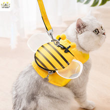 New Fashion And Cute Pet Cat Leash Vest-Style Bee Dog Leash Anti-Stroke Resistance Adjustable Outing Pet Tractor