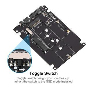Image 2 - Onvian Adaptador de disco duro 2 en 1 M.2 NGFF o MSATA a SATA 3,0, convertidor de tarjeta lectora con Cable para PC y portátil