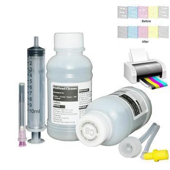 Do czyszczenia głowicy drukującej do projektora Epson L355 L210 L220 L120 L200 L100 L310 L365 L800 L805 L850 L1300 L1800 w technologii sublimacji barwnik pigmentowy atrament 100ml tanie i dobre opinie WIAOEYT CN (pochodzenie) Zestaw wkładem Ink Type Dye Ink Pigment Ink Sublimation Ink Shelf Life 2 Years