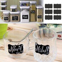 Acessórios de cozinha Bem Feito Blackboard Etiqueta Artesanato Cozinha Pote de Doces Organizador Rótulos 64 Pçs/set pode ser reutilizado
